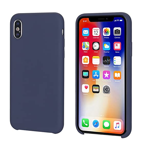 half off 58643 f00fb iPhone X Case, iPhone Xs Case, Casegory iPhone Cover with Liquid Silicone  Gel Rubber and Soft Microfiber Cloth Case for Apple Mobile Phone iPhone X  ...