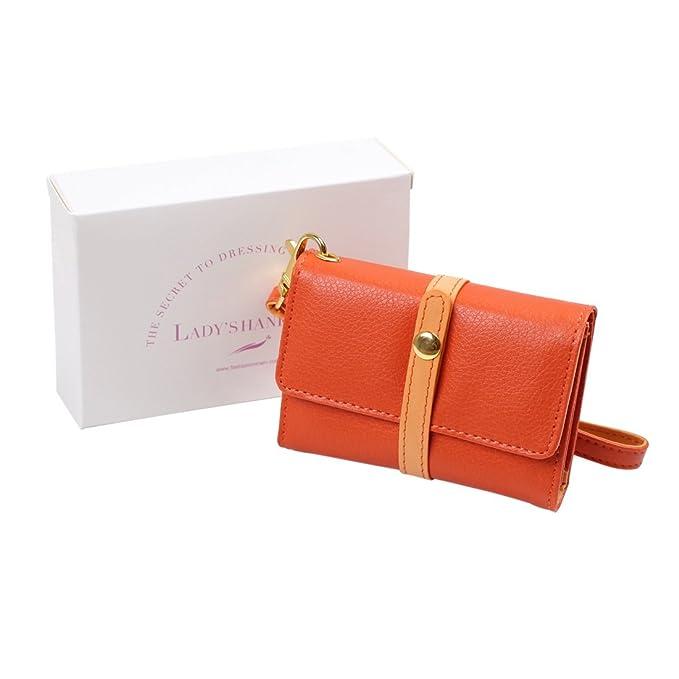 FashionOn FCM0106 Ideas de regalo de monedero de cuero sinttico naranja para billetera para novia by: Amazon.es: Ropa y accesorios
