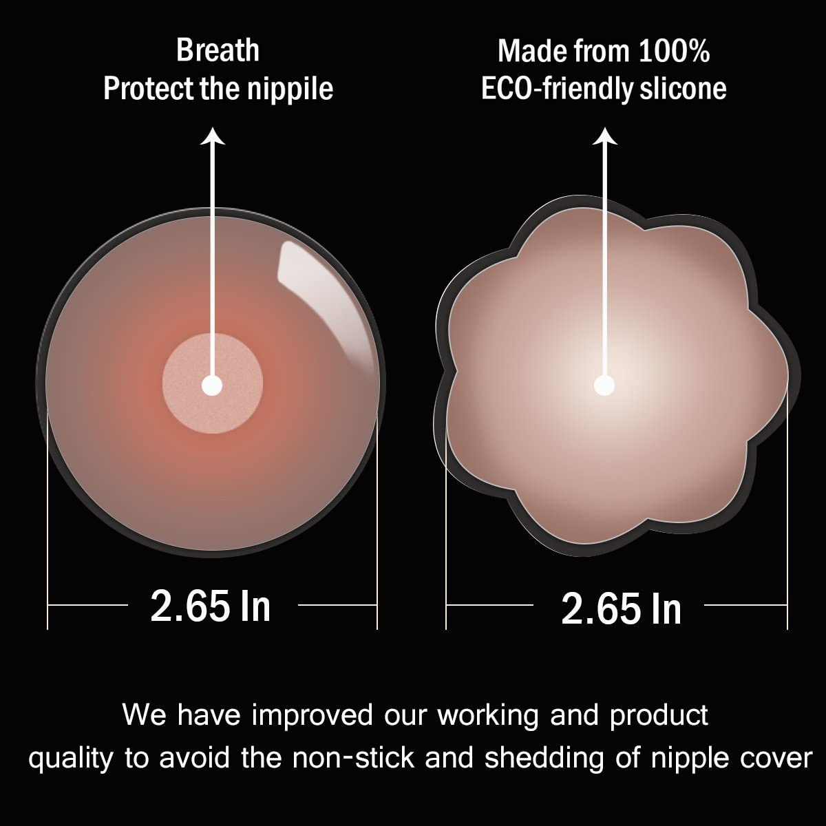 4 pairs Flower Adhesive Bra Reusable 2 4 Pair Invisible Silicone Nipple Cover /… Womens Silicone Pasties