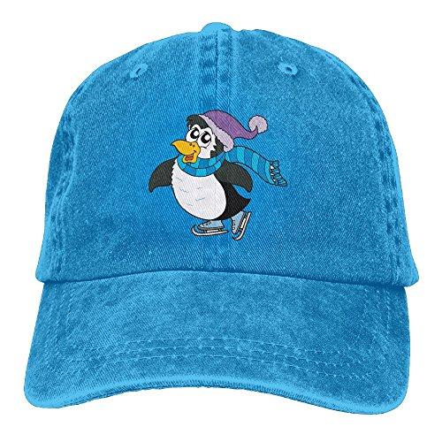 Penguin Ice Skating Unisex Adults Classic Vintage Adjustable Cowboy Hat Baseball Trucker Cap for $<!--$15.00-->