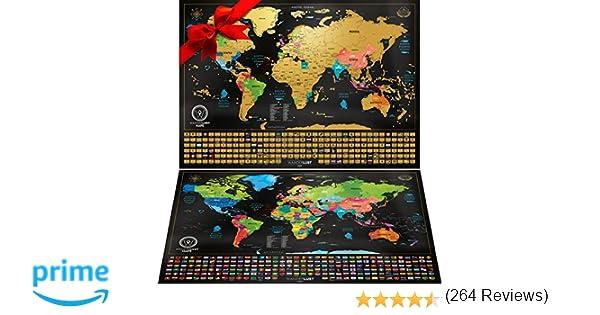 Mapa Mundi Rascar viene con un Mapa Sorpresa (Mapa de Estados ...