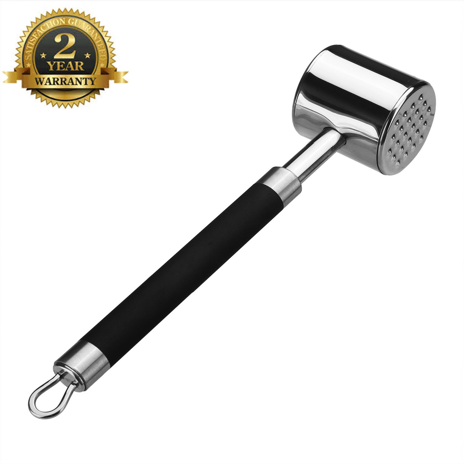 Meat Tenderizer,MayPal Meat Tenderizer Mallet Tool-Dishwasher Safe Meat Tenderizer Powder With Professional Non Slip Silicone Handle for Pounding