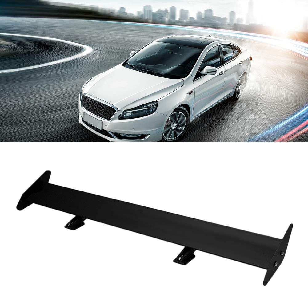 Black Aramox Car Tail Wing Universal Lightweight Aluminium Alloy Car Rear Trunk Tail Wing Racing Spoiler