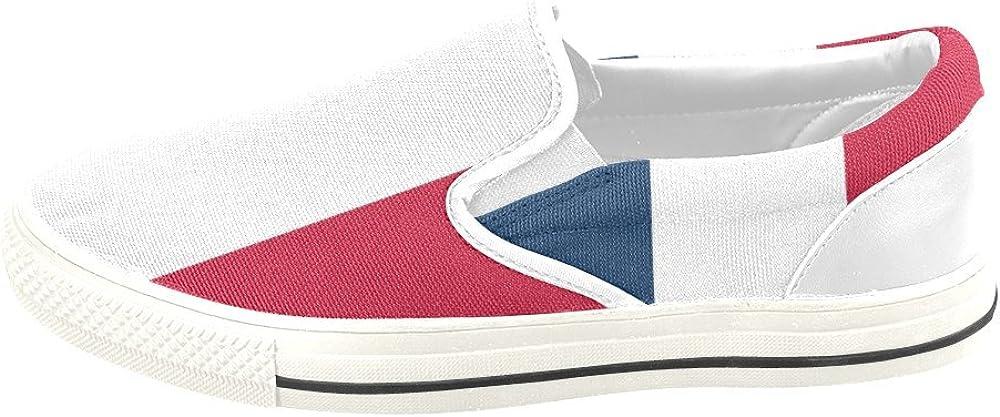 D-Story Custom Flag of France Mens Slip-on Canvas Shoes Sneaker