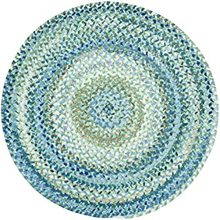 "product image for Capel Rugs Ocracoke Round Braided Area Rug, 7' 6"", Light Blue"