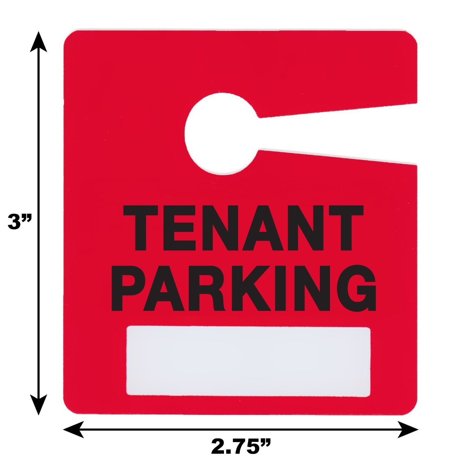 Tenant Parking Permit Pass Stock Hang Tags for Landlords, Commercial Office Buildings, Car Lots, Apartments, by Milcoast,10 Pack (Red) by Milcoast (Image #2)