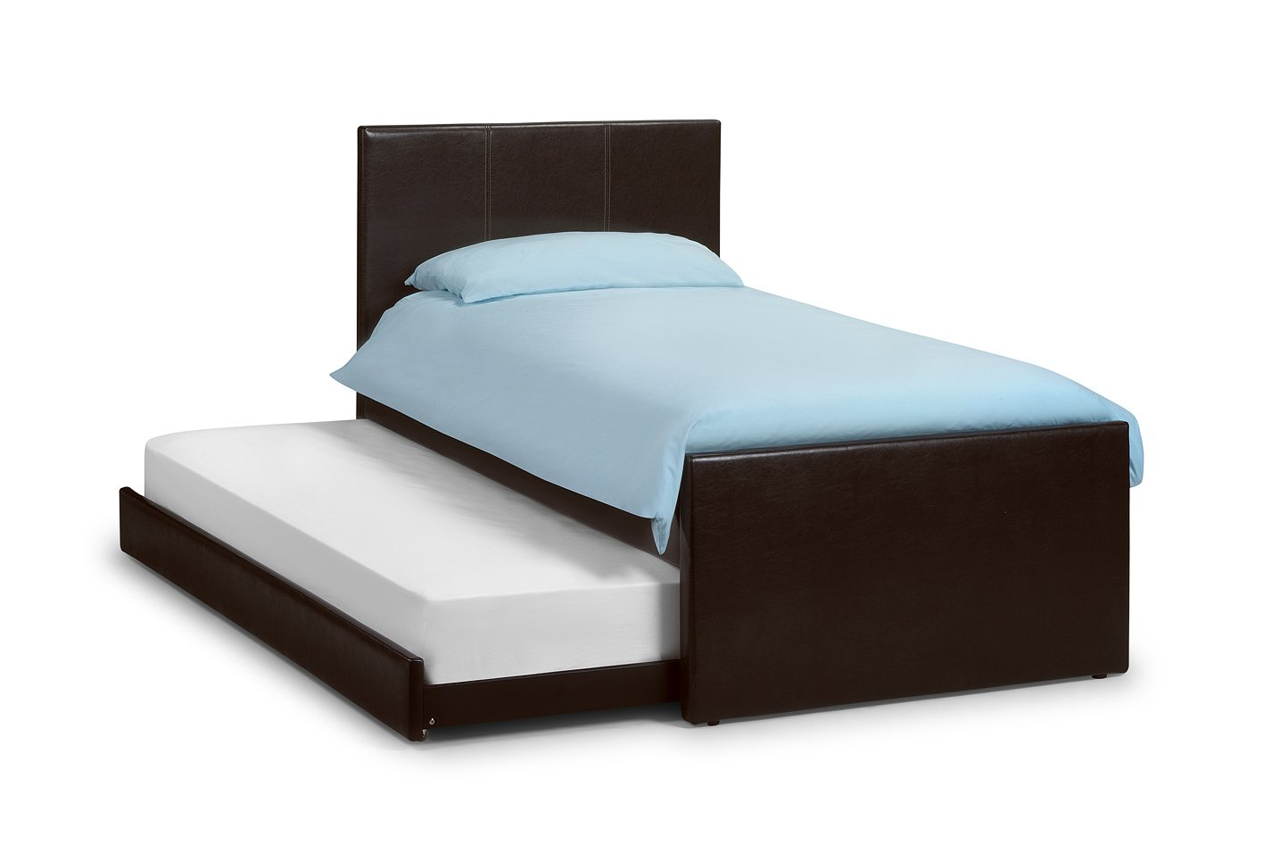 Exceptional Happy Beds Cosmo Brown Guest 3u0027 Single Quality Leather Pull Out Guest Bed  With 2x Luxury Spring Mattress: Amazon.co.uk: Kitchen U0026 Home