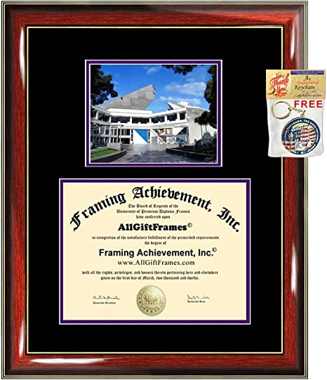 Amazon Com Allgiftframes San Francisco State University Diploma Frame Sfsu College Graduation Degree Campus Photo Certificate Plaque Double Framing Matboard Graduate Gift Bachelors Masters Doctorate Phd Nursing