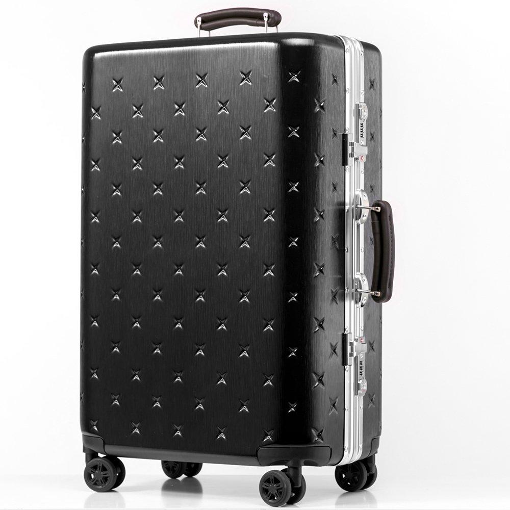 (タノビ)TANOBI スーツケース キャリーケース キャリーバッグ 超軽量 小型 中型 大型 TSAロック搭載 旅行用品 YCL-909 B073343P7P L|ブラック ブラック L