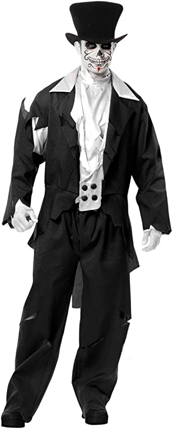 Zombie Ghost Pirate Top Shirt Mens Ladies Halloween Fancy Dress Costume Couples