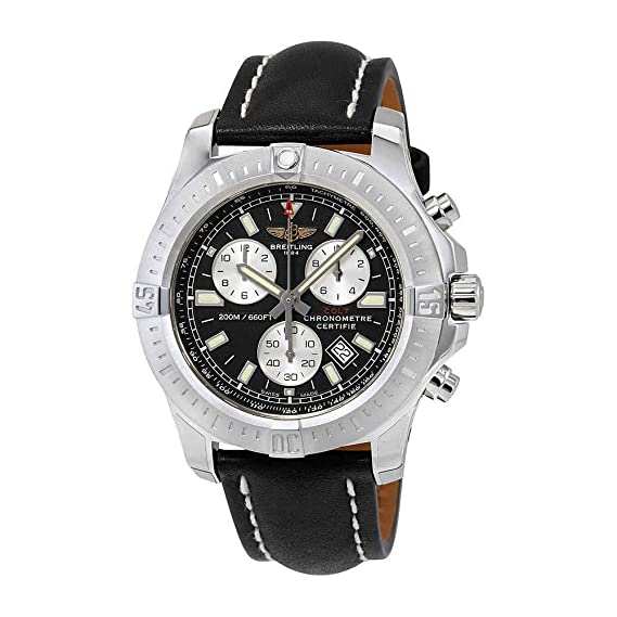 Breitling Colt Cronógrafo Negro Dial Mens Reloj a7338811-bd43bklt: Amazon.es: Relojes