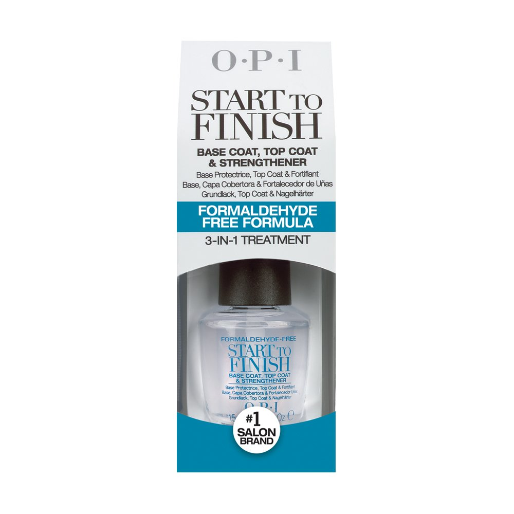 OPI Nail Polish Treatment, 3-in-1 Start to Finish Nail Formaldehyde Free Treatment, 0.5 Fl Oz