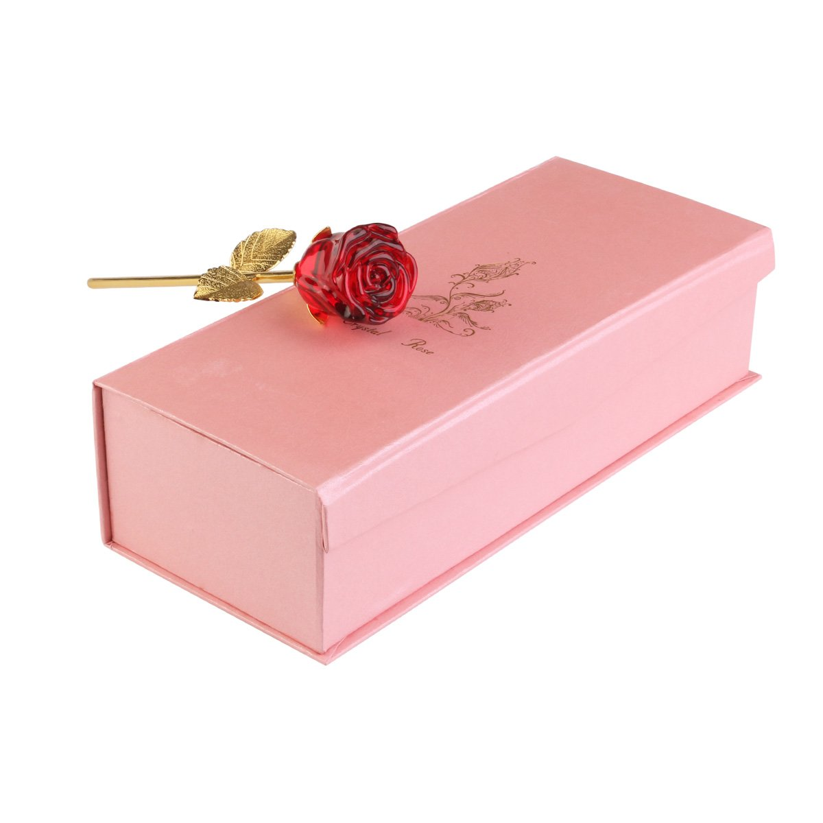 Amazon.com: NUOLUX Valentines Day Gift,Crystal Rose Flower for Her ...