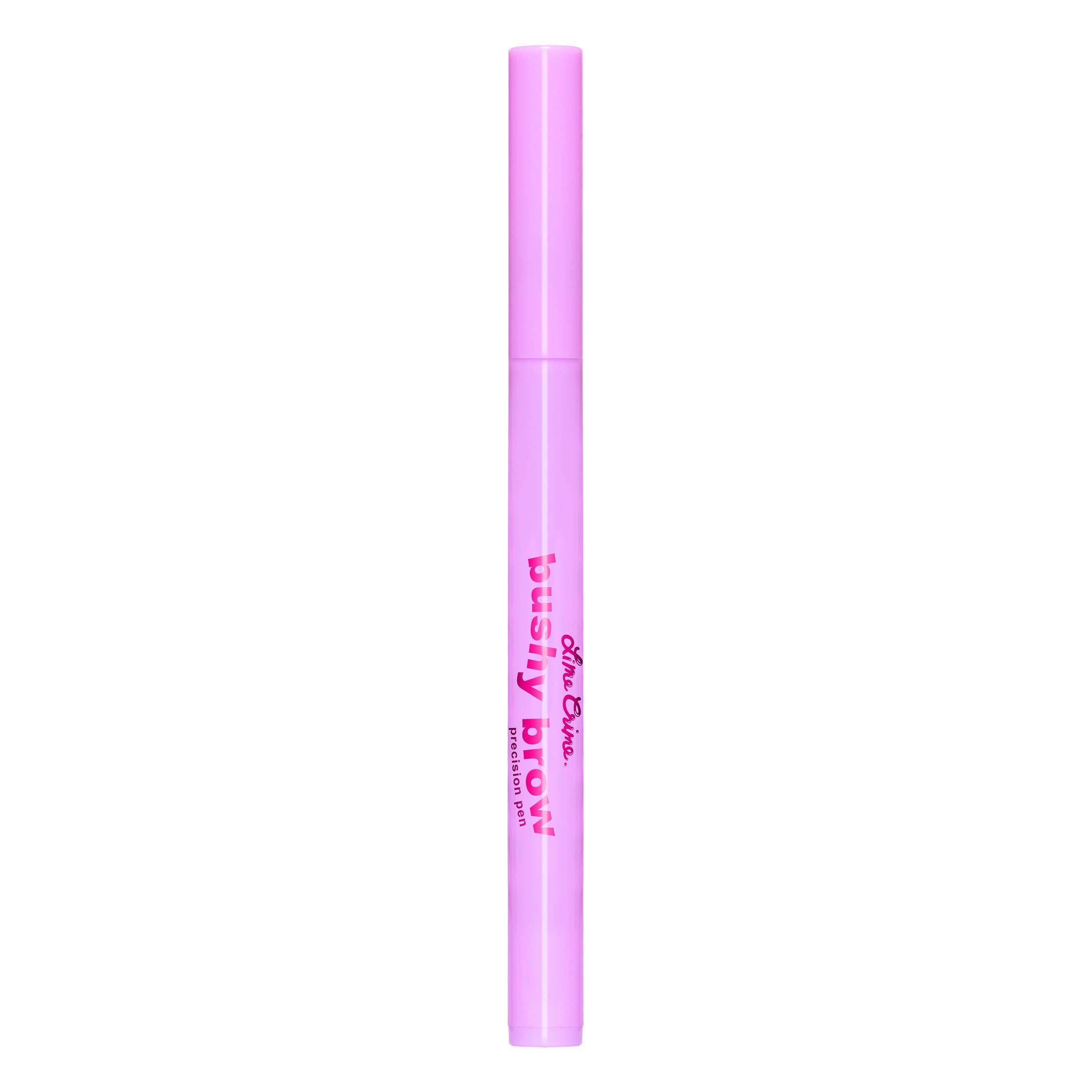 Lime Crime Bushy Brow Precision Pen (Brownie). Neutral Dark Brown Vegan Eyebrow Definer and Filler (0.0236oz / 0.7 mL)