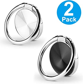 2Pack Cat Shape 3 in 1 Universal Air Vent Car Phone Mount Cell Phone Ring Holder Stand and Finger Grip Cellphone Kickstand Holder Compatible with All Smartphone Black
