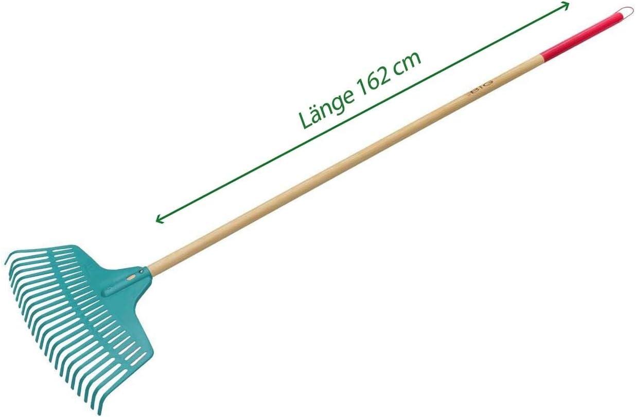 Laubbesen Damen-Rechen Rasenrechen Laubrechen f/ür Garten Outdoor Gartenrechen mit langem Stiel aus Kiefernholz Laubharke Multifunktional 162 cm