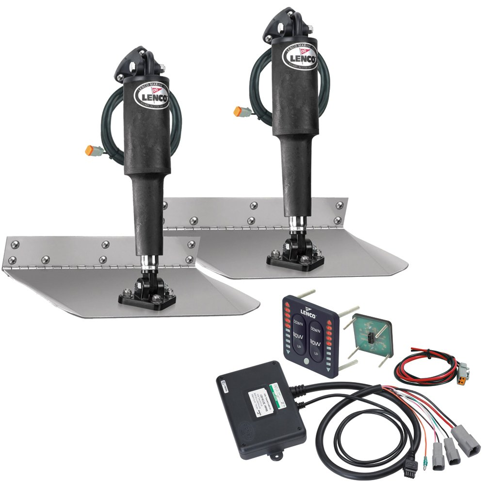 Lenco 9'' x 9'' Standard Trim Tab Kit w/LED Indicator Switch Kit 12V