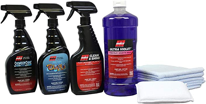 Amazon Com Malco All In One Auto Detailing Kit Best Interior Exterior Car Cleaning Conditioning Kit Includes 6 Professional Grade Car Detailing Products Give Your Entire Vehicle A Look 800415 Automotive