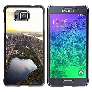 PC/Aluminum Funda Carcasa protectora para Samsung GALAXY ALPHA G850 Park Nyc Usa City View Aerial / JUSTGO PHONE PROTECTOR