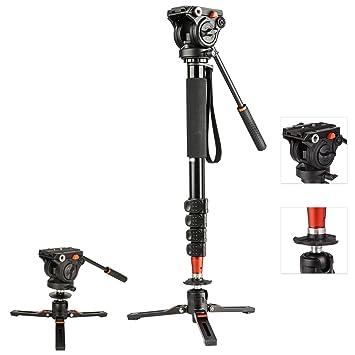 Monopié para cámara de vídeo con Base de trípode de 3 Patas, Patas ...