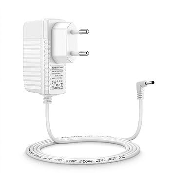Aukru Cargador 6V para Philips Avent SCD501 / 00 Monitor de bebé DECT - Adaptador de alimentación para bebés Unidad-(blanco)