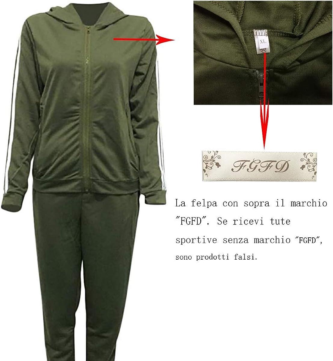 Tuta Donna Sportiva Abbigliamento Felpa Tops E Pantaloni Jogging Manica Lunga Pullover Tuta Ginnastica per lautunno Primaverile Invernale