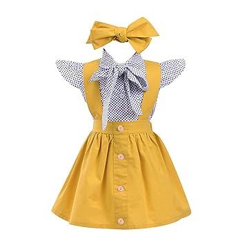 886a6e584cf35 Zoiearl おしゃれ 子供服 ワンピース 可愛い 子供服 トップス スカート ヘアバンド 上下セット お姫様 ドレス