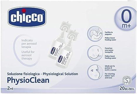 Chicco PhysioClean - Pack de 20 sueros fisiológicos, 2ml: Amazon.es: Bebé