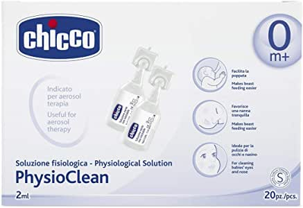 Chicco PhysioClean - Pack de 20 sueros fisiológicos, 2ml: Amazon ...