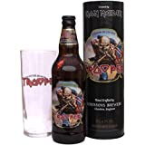 Your Message Engraved on Trooper Pint glass,up to 30 letters 500ml Trooper Ale in Trooper Gift Tube
