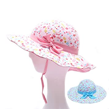 92f85cbf Amazon.com: Kid Baby Summer Hat, NACOLA Infant Toddlers Baby Girls Eyelet  Hollow Wide Brim Sun Protection Hat: Baby