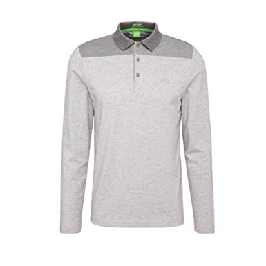 Hugo Boss Polo Deluxe Manga Larga (L, Gris): Amazon.es: Ropa y ...