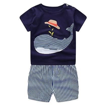 Qiusa set di abbigliamento per neonati neonati neonati maschietti