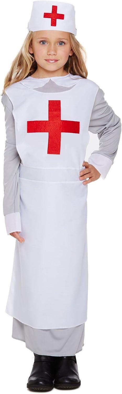 Henbrandt WW1 Nurse Fancy Dress Costume Age 7-9 Years U00/_960-2/_MED