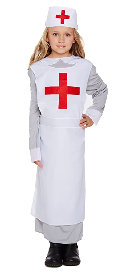 92ec71ae5378a Amazon.com: Henbrandt WW1 Nurse Fancy Dress Costume Age 7-9 Years: Toys &  Games