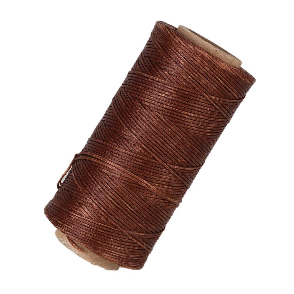 Strumento il mestiere del cuoio WEONE Brown 210D Dacron piatto incerato cera cavo del filetto per mano Stitching 180 metri JS-11415361