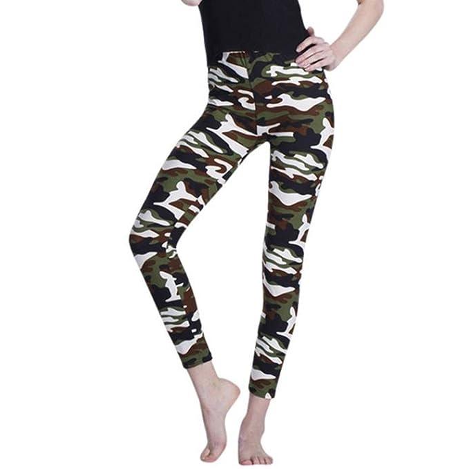 Pantalones Yoga Mujeres, Xinantime Leggings de Camuflaje para Mujer de Moda Pantalones Estampados y Ajustados