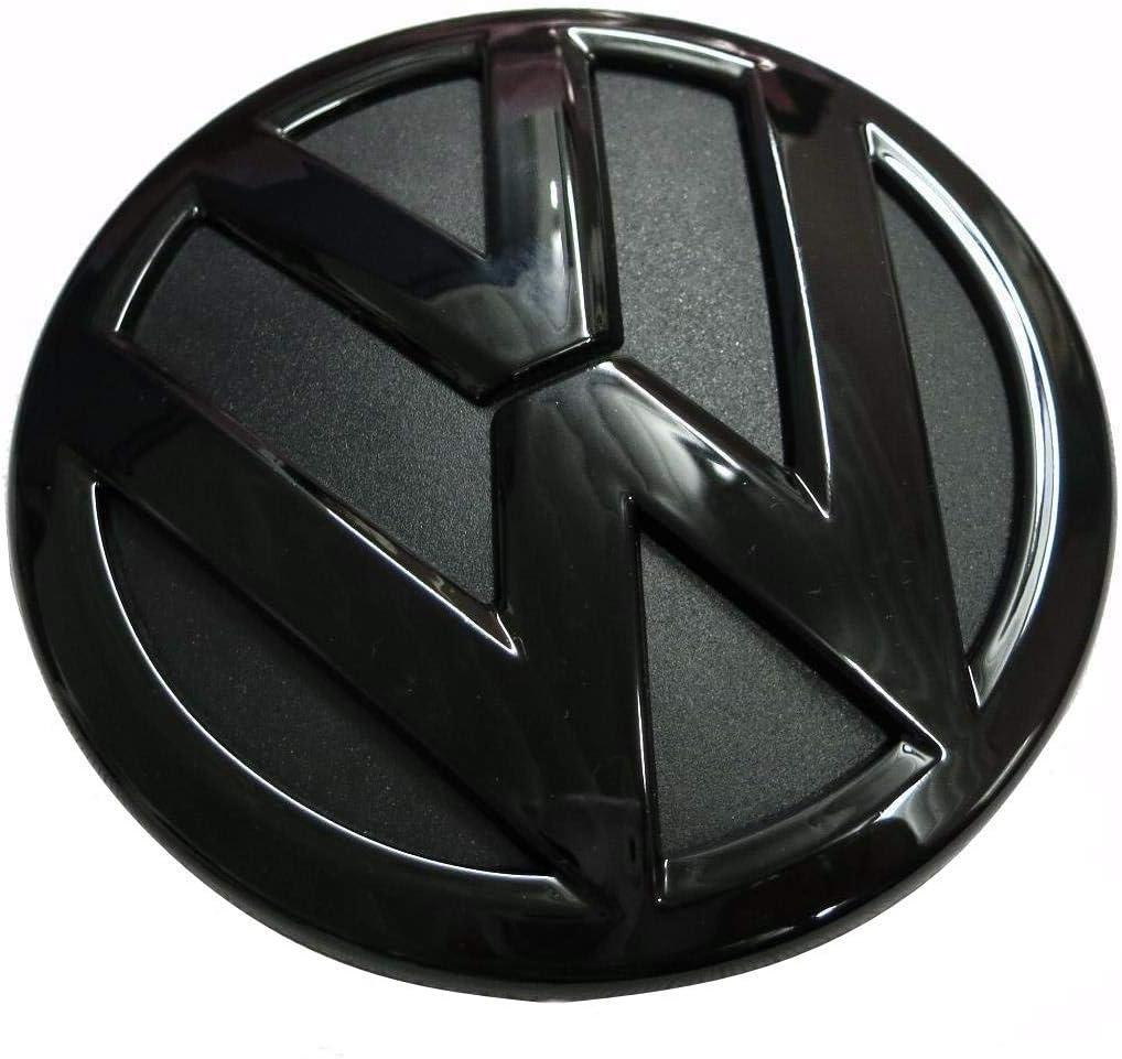 Glossy Black 110mm Front Grill Bonnet Badge Emblem For Scirocco 2015-2018