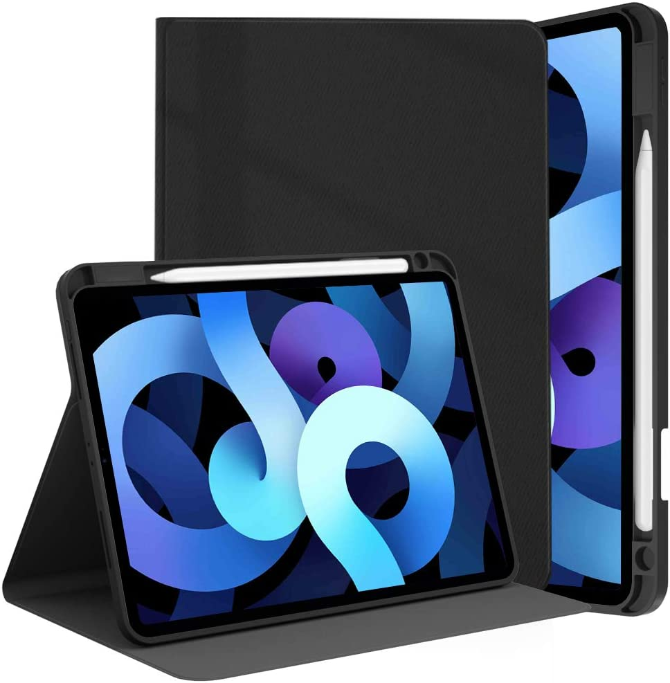 New iPad 10.2-8th/7th (2020/2019 Model) Generation Case with Pencil Holder/iPad Air 3 case/ipad Pro 10.5 Case -with Auto Sleep/Wake Feature (ipad 10.2 inch/10.5 inch, Black)