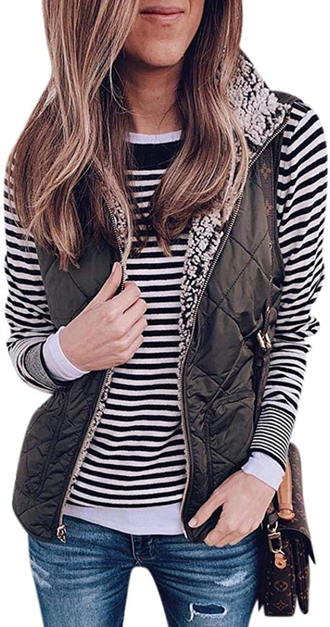 Adults Mens Ladies Womens Reversible Polar Fleece Lining Vest Sleeveless Jacket
