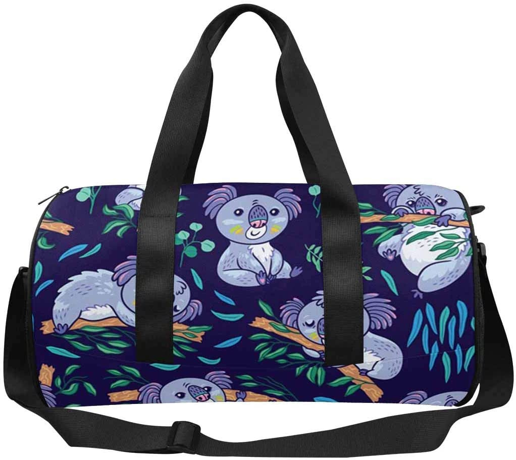 INTERESTPRINT Koalas in the Eucalyptus Forest Outdoor Sports Travel Duffel Bag