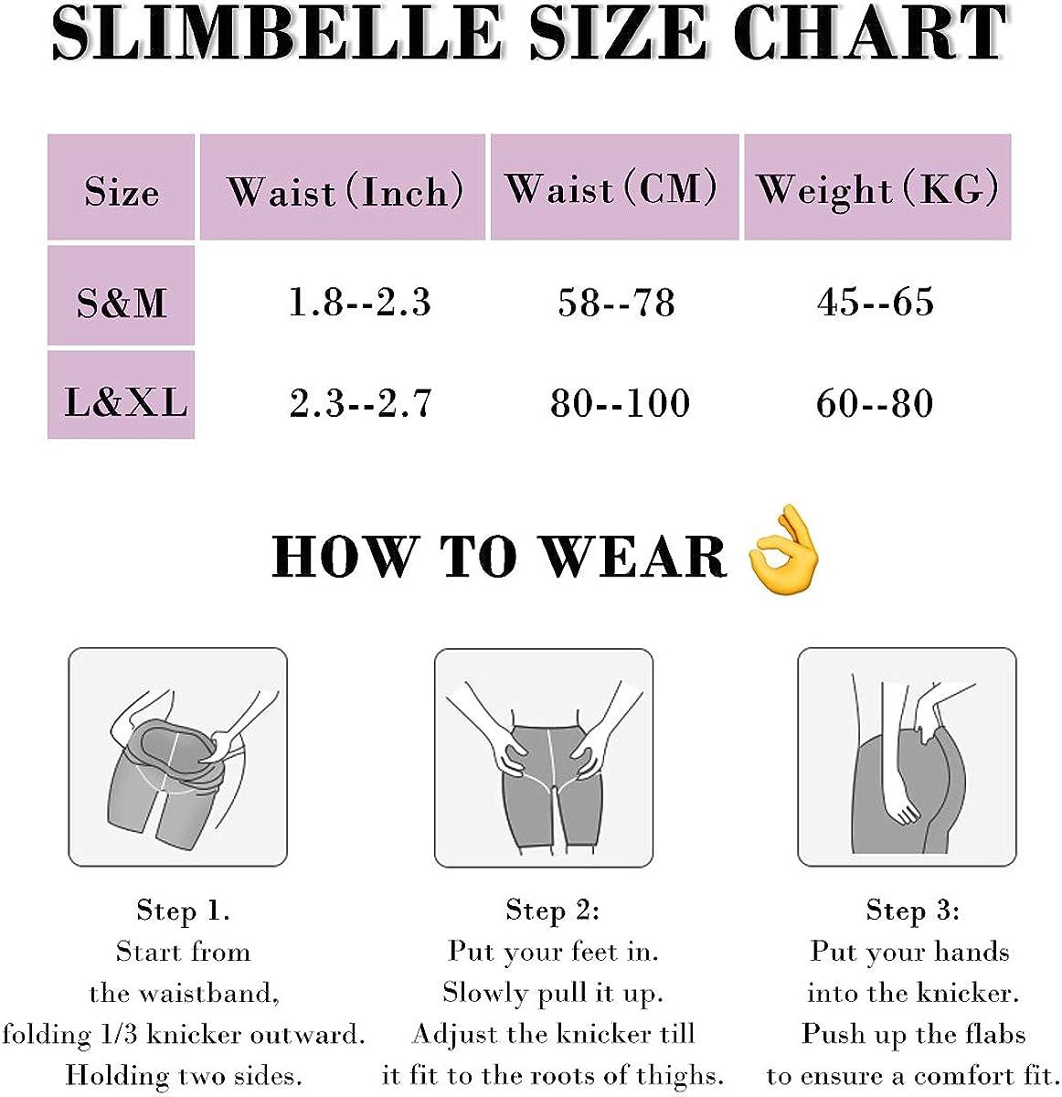 SLIMBELLE Shapewear di Sicurezza Shorts Elasticizzati Intimi in Pizzo Donna Mutanda Snellente Guaina Contenitiva Pantaloncino Modellante Senza Cuciture Vita Alta