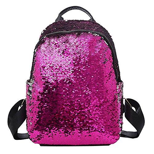 Desigual Women Bags Backpack LuluZanmFashion Girl Sequins School Bag Backpack Satchel STU