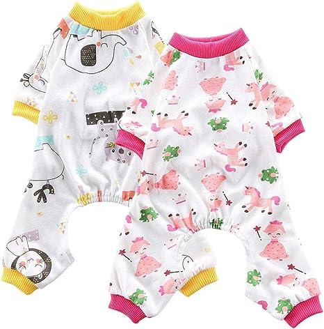 Oncpcare Paquete de 2 pijamas para perro (gato + caballo), de ...