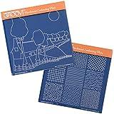 Groovi Plates - Farmhouse Scene & Textures ( Set of 2) by Groovi