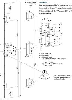 Winkhaus Mehrfachverriegelung STV-U2460 92//8 D35 RS M2 MC 24 mm Profilstulp mit 2 Schwenkriegeln