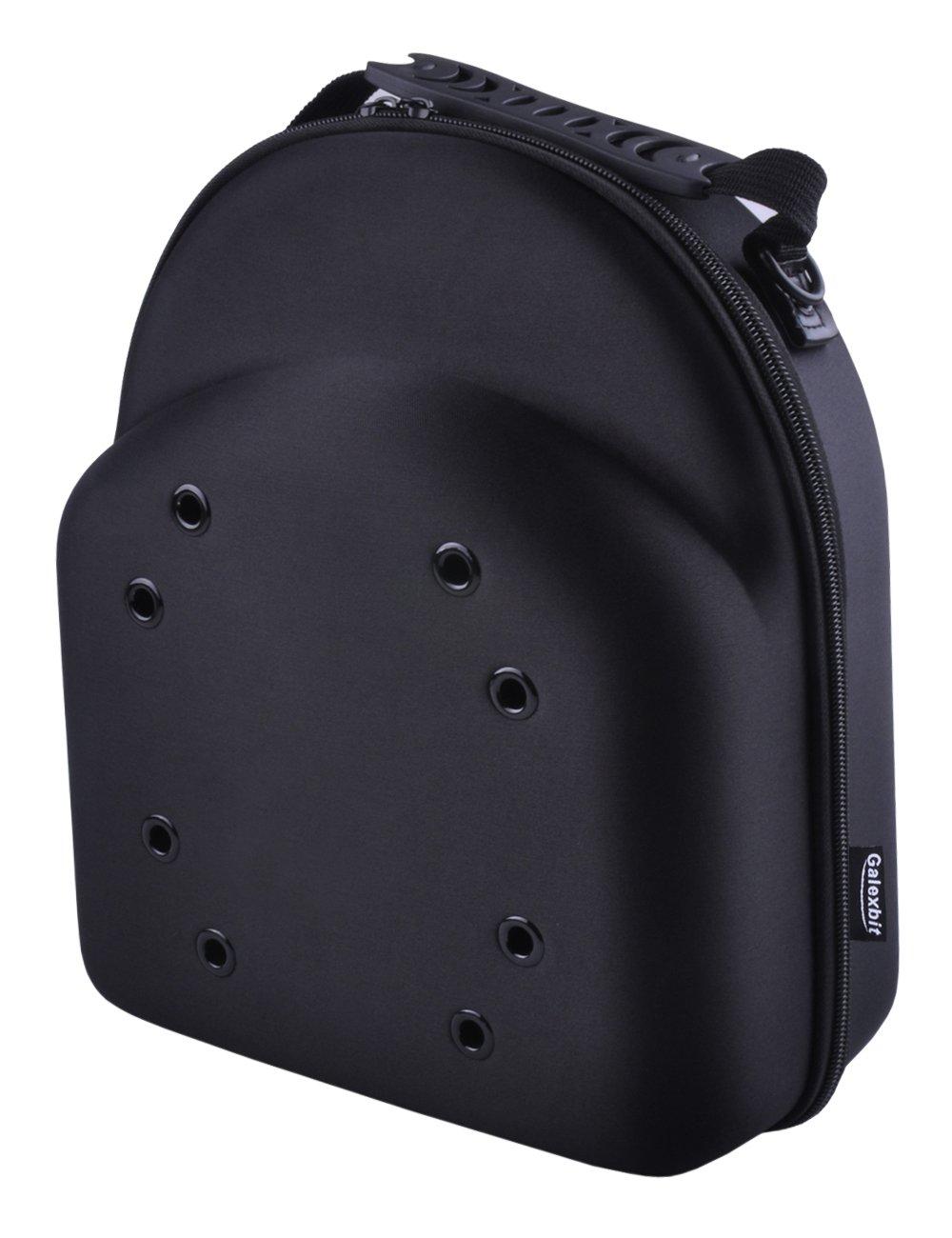 Galexbit Baseball Hat case Cap Carrier Case Holder for 3 Caps Hat bag for Travel(Black) (S)