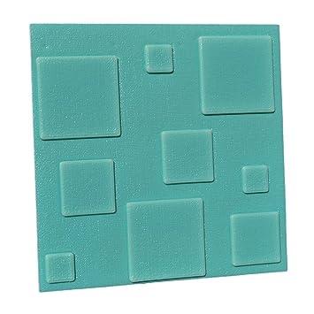 Baost Mousse PE 3D carré Autocollant Papier Peint Décoration Murale ...
