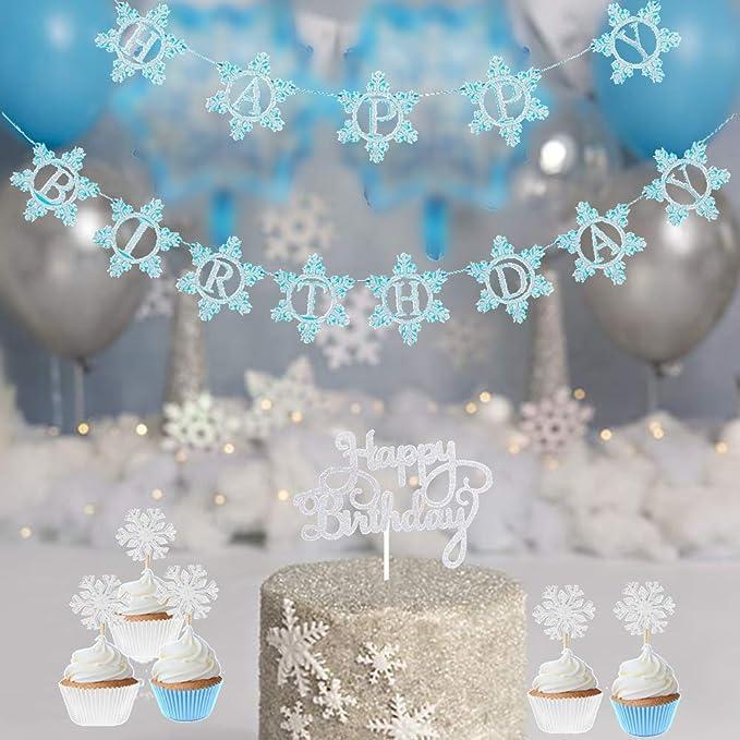 Amazon.com: Invierno Wonderland Frozen Feliz Cumpleaños ...