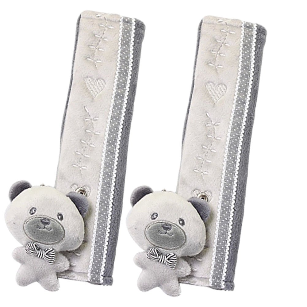 a Pair of Baby Kid Car Seat Strap Cover Toddler Infant Stroller Strap Cover GRAY Panda Superstore PS-BAB8446249011-CHILLY01075